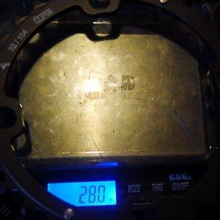 Gewicht Tune Kettenblatt Triebtreter AL 104mm, 32Z