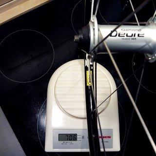 "Gewicht Shimano Systemlaufräder Deore HB-M510 - Mavic XM117 - DT Swiss Competition 26"", VR, 100mm/QR"