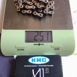 Gewicht KMC Chain Kette X11.93 114 glieder, 11-fach