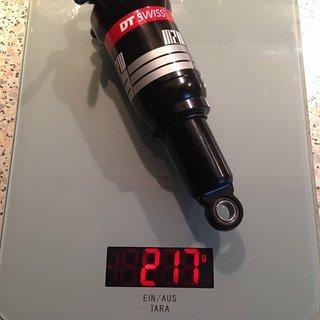 Gewicht DT Swiss Dämpfer M 210 165 x 37.5 mm