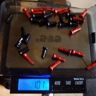 Gewicht Sapim Speichennippel Polyax Alu 32x, 2mm, 14mm