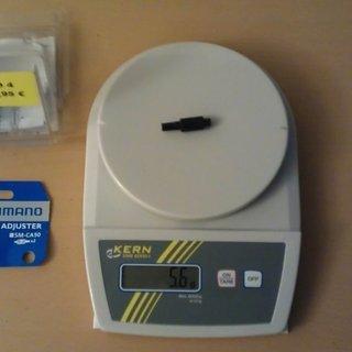 Gewicht Shimano Innen- und Außenzüge Schaltzugeinsteller SM-CA50