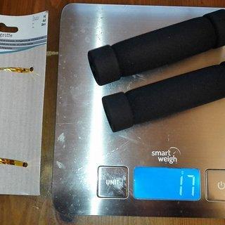 Gewicht No-Name Griffe TEDI 1,- Schaumstoffgriffe