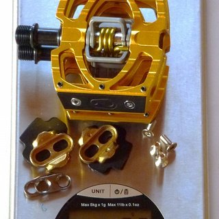 Gewicht Crank Brothers Pedale (Klick) Mallet 3 Titan