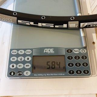 Gewicht DT Swiss Felge 545d 700c 622x21