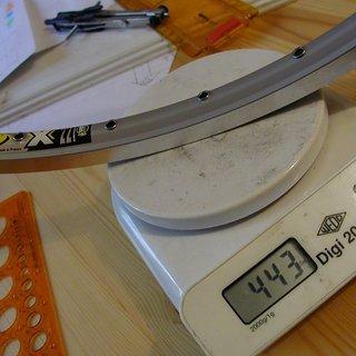 """Gewicht Mavic Felge X221 26"""" / 32 Loch"""
