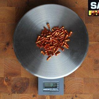 Gewicht Sapim Speichennippel Polyax Alu 64x, 2mm, 12mm