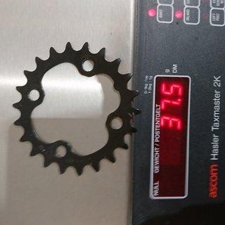 Gewicht Shimano Kettenblatt Hone FC M600 104mm, 22Z