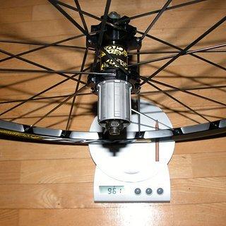 Gewicht Mavic Systemlaufräder Crosstrail HR, 135mm/QR