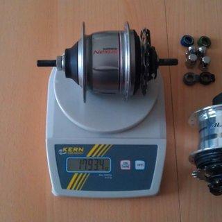 Gewicht Shimano Nabenschaltungen Nexus Premium SG-8R36 36 Loch
