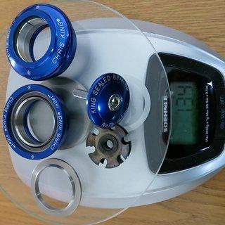 Gewicht Chris King Steuersatz InSet i1 Grip Lock 1 1/8 Zoll ZS44/28,6 | ZS44/30