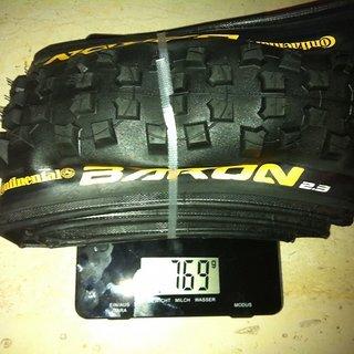 """Gewicht Continental Reifen Der Baron 2.3 26x2.3"""", 57-559"""