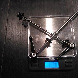 Gewicht Aest Schnellspanner QR02 Conical 100mm, 135mm