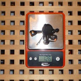 Gewicht Shimano Schalthebel XT SL-M770 3-fach