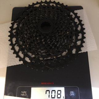 Gewicht SRAM Kassette PG-1210 Eagle 11-50t, Shimano