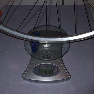 Gewicht Shimano Systemlaufräder LX + Mavic 221 HR, 135mm/QR