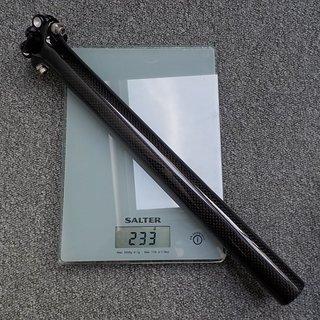 Gewicht No-Name Sattelstütze Carbon Sattelstütze 30,9