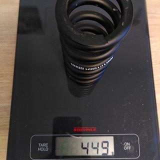 Gewicht Rock Shox Feder Stahlfeder Super Deluxe Coil metrisch, 134 mm 96 (550) × 47,5-55mm