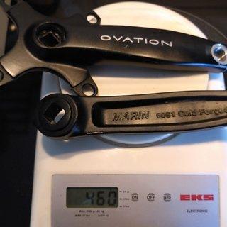Gewicht Marin Kurbel Ovation (tuned) 147,5mm, 68/73mm, 4-kant
