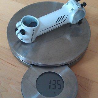 Gewicht Bontrager Vorbau Race Lite 31.8mm, 100mm, 7°