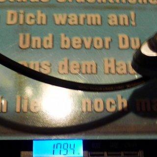 Gewicht Shimano Scheibenbremse XTR BR-M987 VR, 1000mm