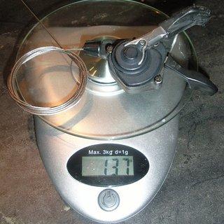Gewicht Shimano Schalthebel XT SL-M740 8-fach