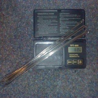 Gewicht DT Swiss Speiche Revolution 254mm, 16 Stück
