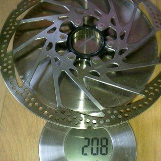 Gewicht Shimano Bremsscheibe SM-RT62L 203mm