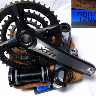 Gewicht Shimano Kurbelgarnitur XTR FC-M970 175mm, 22/32/44Z