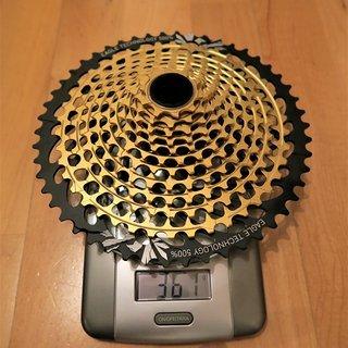 Gewicht SRAM Kassette XX1 Eagle Gold 12fach 10-50
