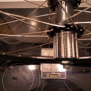 """Gewicht Shimano Systemlaufräder Deore FH-M615 - Ryde Edge 26 - DT Revo 29"""", HR, 135mm/QR"""