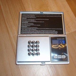 Gewicht Magura Schrauben, Muttern Linsenkopfschraube M5x12, Ti