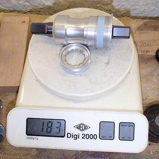 Gewicht Stronglight Innenlager Titan Innenlager 4-kant, 68/110mm, BSA
