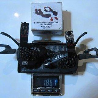 Gewicht Shimano Schalthebel XTR SL-M980A (tuned) 2/3x10-fach