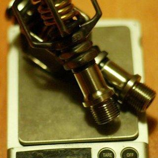 Gewicht Crank Brothers Pedale (Klick) Eggbeater 2ti (tuned)