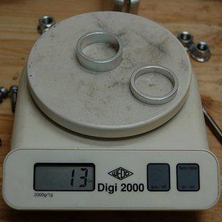 Gewicht Kokua Bikes Spacer Al-Spacer 1⅛'', 5/10mm