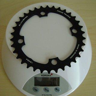 Gewicht Blackspire Kettenblatt Mono Veloce 104mm, 34Z