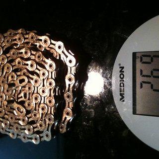 Gewicht KMC Chain Kette X 9 SL Gold 116 Glieder