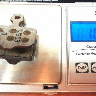 Gewicht Avid Bremsbelag 00.5315.035.020 Elixir - XX