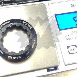 Gewicht Shimano Kassettenabschlussring XTR CS-M980 11Z