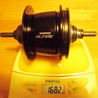 Gewicht Shimano Nabenschaltungen Alfine SG-S501 135mm, 32 Loch