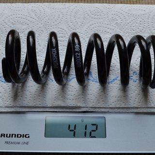 Gewicht Fox Racing Shox Feder DHX Stahlfeder 400 x 2.80 400 x 2.80