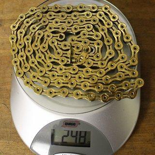 Gewicht KMC Chain Kette X 9 SL Gold 106 Glieder