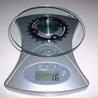 Gewicht Extralite Kettenblatt OctaRamp 64mm, 22Z