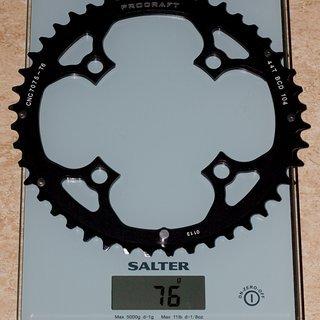 Gewicht Procraft Kettenblatt Kettenblatt MTB 104mm, 44Z