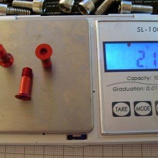 Gewicht Tuning Pedals Schrauben, Muttern Senkkopfschraube M5x15, Al