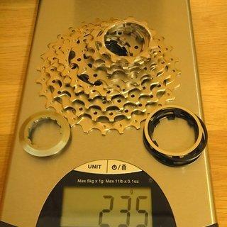 Gewicht Shimano Kassette Ultegra CS-6700 10-fach, 11-28Z