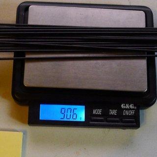Gewicht Sapim Speiche Race 258mm, 16 Stück