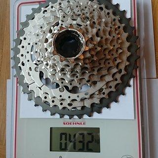 Gewicht Shimano Kassette XT CS-M8000 11-fach, 11-42Z
