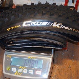 Gewicht Continental Reifen cross king black chili race sport 26x2,3; 58x559